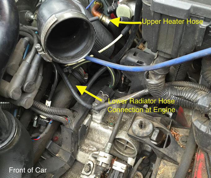 dodge caravan engine block heater location 2005 town