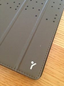 Stitched cover with chrome embossing.