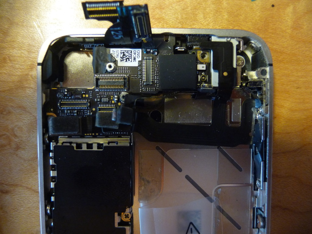 The business end of the phone - the top.